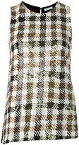 P.A.R.O.S.H. sequined checkered top - women - Viscose/PVC - S