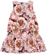 Molo Peonies Print Cotton Poplin Dress