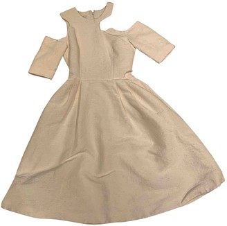 Tata-Naka Ecru Silk Dress for Women