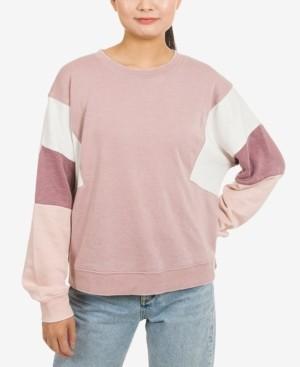 Hippie Rose Juniors' Colorblocked Sweatshirt