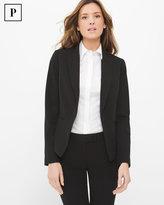 White House Black Market Petite Lace-Up Detail Seasonless Black Jacket