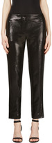 Thierry Mugler Black Woven Glossy Trousers
