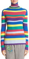 Mira Mikati Women's Stripe Merino Wool Turtleneck