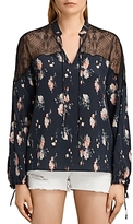 AllSaints Layla Meadow Silk Top