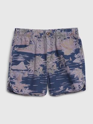 Gap Camp Print Shorts in Linen-Cotton