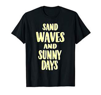 Vintage Summer Sand Waves and Sunny Days Beach Vacation T-Shirt