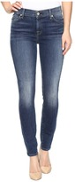 7 For All Mankind The Ankle Skinny w/ Navy Tonal Squiggle in High Street