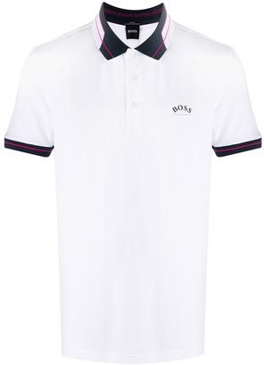 HUGO BOSS Logo Print Polo Shirt