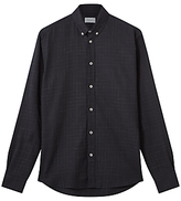 Jigsaw Italian Space Dye Check Shirt, Navy