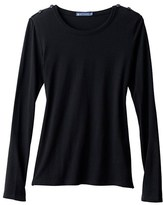 Petit Bateau Womens long-sleeved tee in winter cotton jersey, wool and silk
