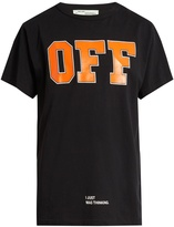 Off-White Off-print cotton T-shirt
