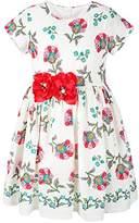 Lilax Little Girl Easter Flower Print Short Sleeve Toddler Dress