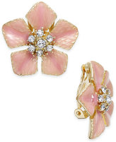 Charter Club Erwin Pearl Atelier For Gold-Tone Crystal Flower Clip-On Stud Earrings, Only at Macy's