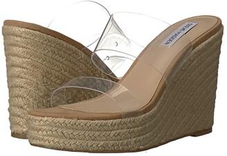 Steve Madden Sunrise Wedge Sandal (Clear) Women's Shoes
