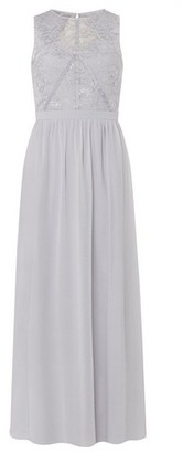 Dorothy Perkins Womens Showcase Bridesmaid Grey 'Eva' Evening Maxi Dress, Grey