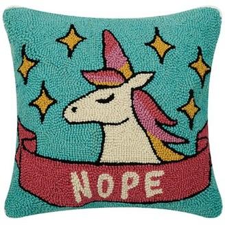 Peri Brayden Studio Nope Unicorn Wool Throw Pillow Brayden Studio