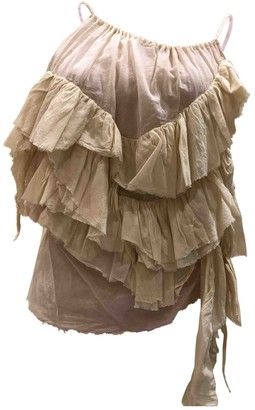 Marques Almeida Ecru Cotton Top for Women