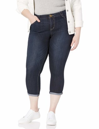 Democracy Women's Plus Size Ab Solution Cuffed Crop Jean