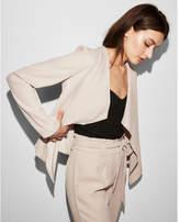 Express drape open front jacket