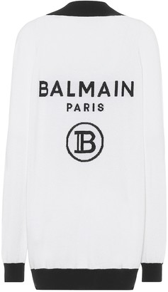 Balmain Wool-blend cardigan
