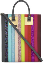 Sophie Hulme Albion rainbow stripe leather tote