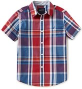Nautica Big Boys 8-20 Plaid Short-Sleeve Woven Shirt