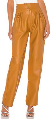 Nonchalant NONchalant Britt Pleated Vegan Leather Trouser