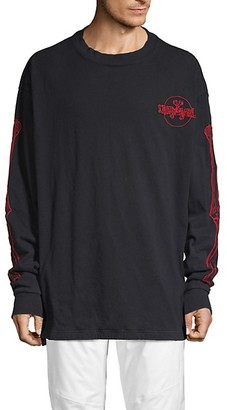 Unravel Project Bones Embroidered Cotton Sweatshirt