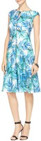 St. John African Palm Print Dress