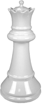 White Ceramic Queen Chess Piece Statue