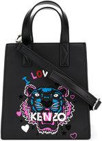Kenzo I Love You shopper bag - women - Cotton/Calf Leather/Nylon - One Size