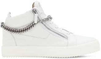 Giuseppe Zanotti May London Leather Sneakers W/ Chain
