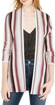 INC International Concepts Petite Striped Open-Front Cardigan