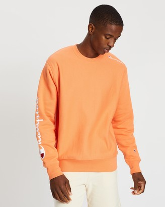Champion Reverse Weave Crew Multi Script Sweater