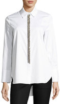 ADAM by Adam Lippes Chain-Trim Cotton Blouse