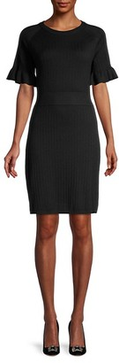 Calvin Klein Pleated Short-Sleeve Sweaterdress