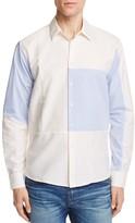 Soulland Jiang Patchwork Slim Fit Button-Down Shirt