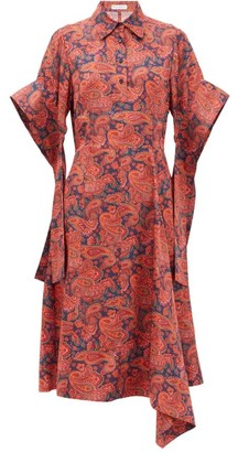 J.W.Anderson Paisley-print Satin-twill Dress - Red Print