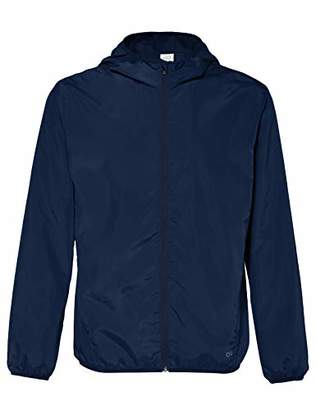 Puma CARE OF by Men's Water Resistant Windbreaker Jacket, Blue (Navy), (Size:M)