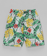 Flap Happy Green Gone Bananas Swim Trunks - Infant Toddler & Boys