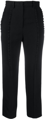 No.21 Frill Trim Cropped Trousers