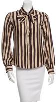 Moschino Striped Silk Top w/ Tags