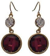 AJ Fashion Jewellery Faye tone lilac Crystal Hook Earrings