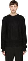 Saint Laurent Black Mohair Crewneck Sweater