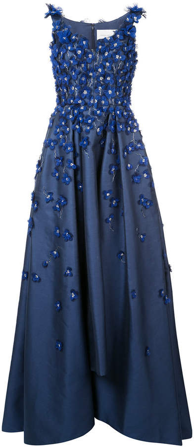 Carolina Herrera embroidered flared gown