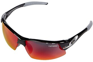 Tifosi Optics Crit (Race Silver Frame Clarion Red/AC Red/Clear Lenses) Sport Sunglasses
