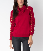 Yuka Paris Red Bell Turtleneck Sweater