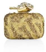 Jimmy Choo Woven Crystal-Embroidered Clutch