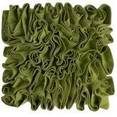 Rocha.John Rocha Green Felt Ripple cushion