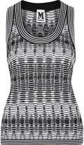 M Missoni Crochet-knit cotton-blend tank